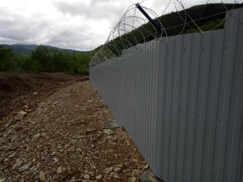 Восстановление периметра ограждения территории СОФ с освещением и видеонаблюдением