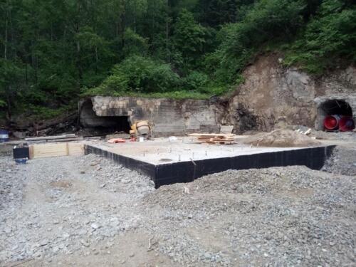 Устройство фундаментов под Главную вентиляторную установку на руднике «Молодежный»