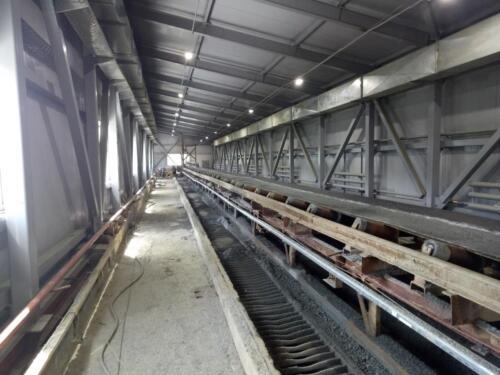 Замена аварийных конструкций стен и перекрытий главного корпуса бункерного отделений СОФ