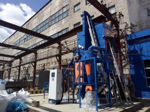 Монтаж установки «ЭРГА» по получению вольфрамового концентрата СОФ