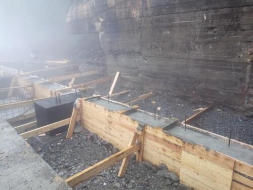Устройство фундаментов здания ГВУ рудник «Молодежный»